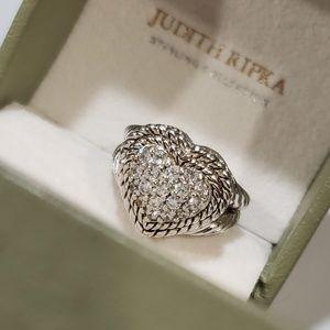 Judith ripka Heart ring size 5 /daimanike